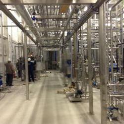 Монтаж цеха приготовления молочной продукции