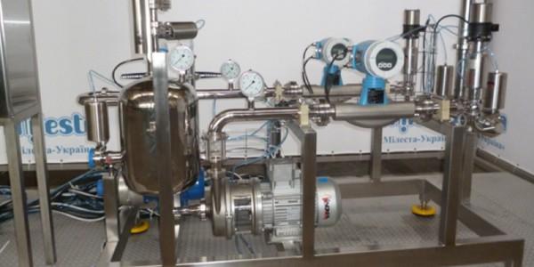 Установка для приготовления сортировки (водно-спиртовой смеси) в потоке
